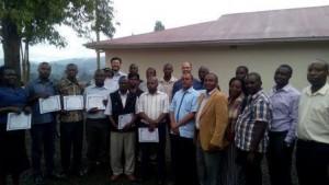 Volunteers with Frank Akampa